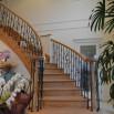 サーキュラー階段のある家