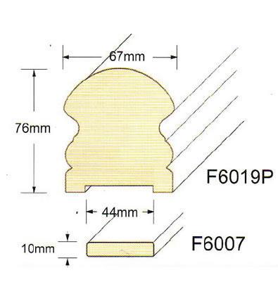 ハンドレール F6019P